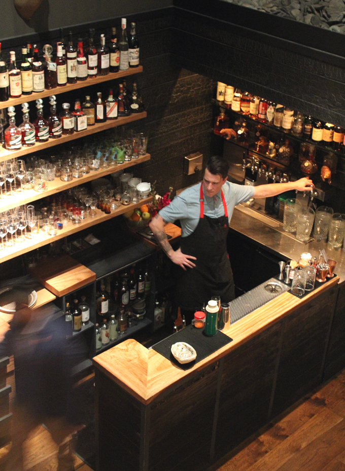 The bar on the first floor right when you walk in.