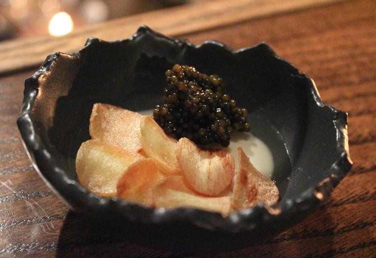 Parsnip custard and caviar.