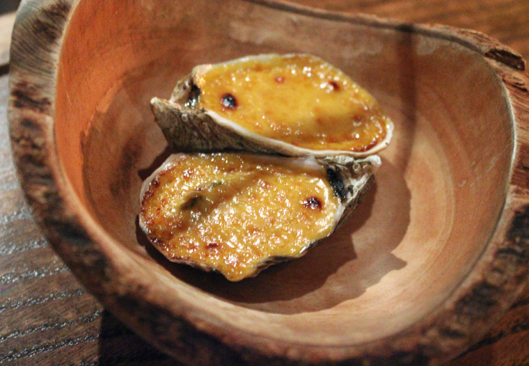 Warm oysters.