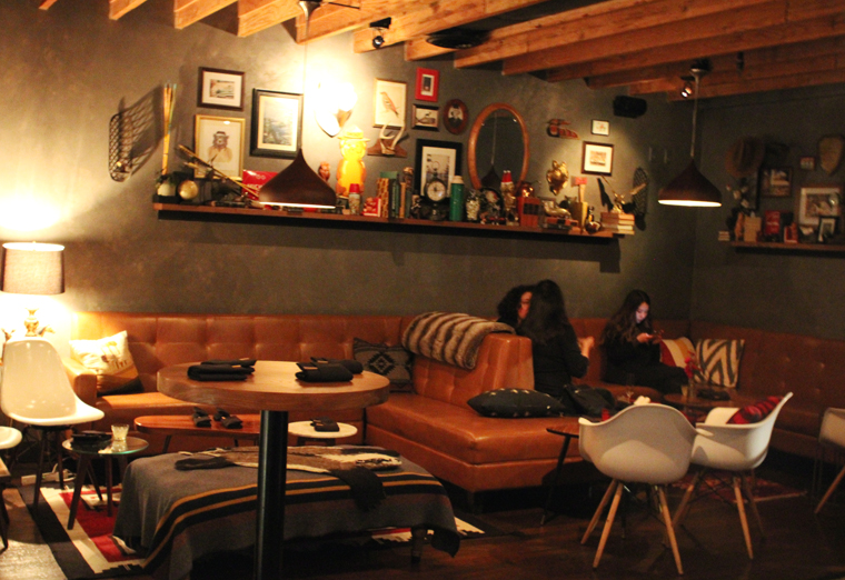 The upstairs lounge.