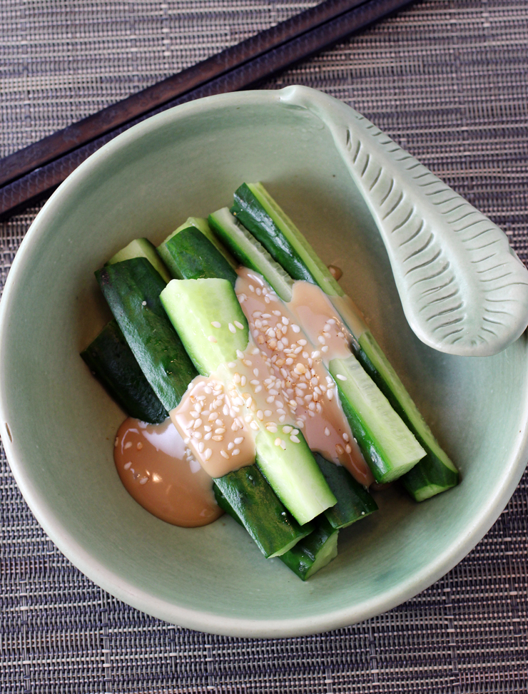 Guests will be dazzled by the simplicity and big taste of these cucumbers.