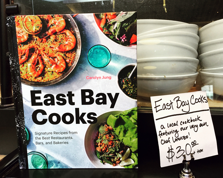 "My ""East Bay Cooks'' for sale at The Gastropig, which is featured in the book."