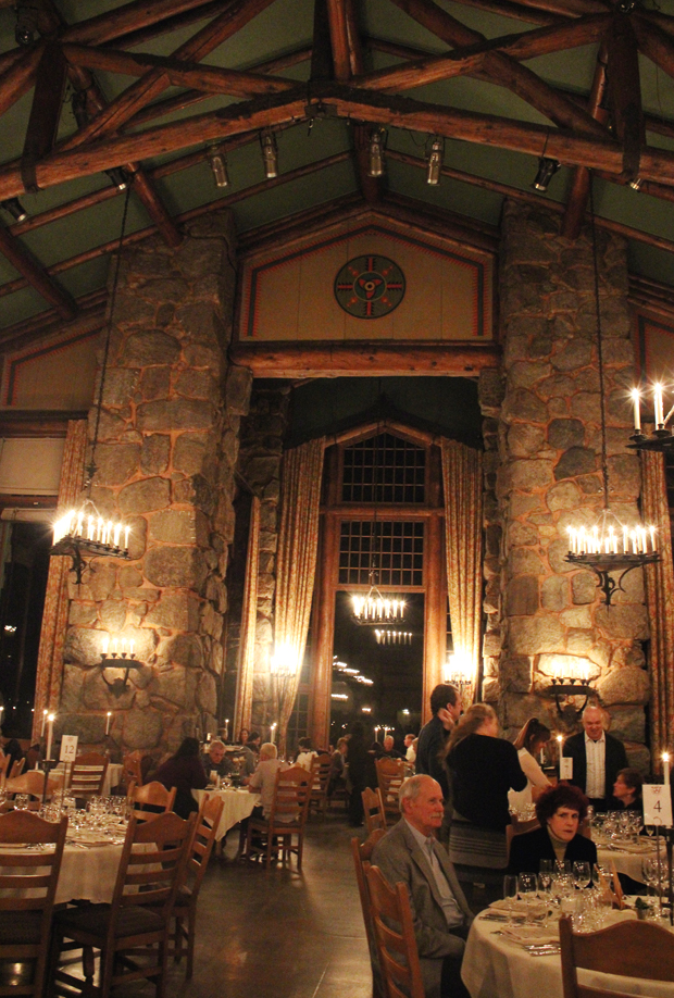 The iconic Ahwahnee dining room.