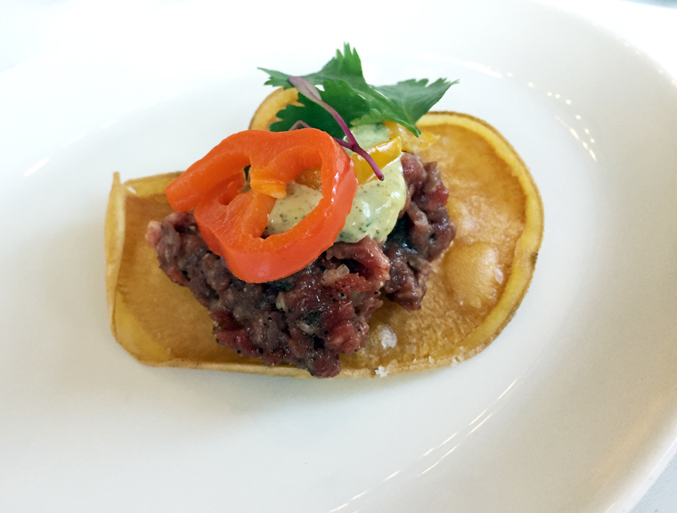 Paluska's hangar steak tartare.