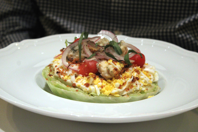 The wedge salad.