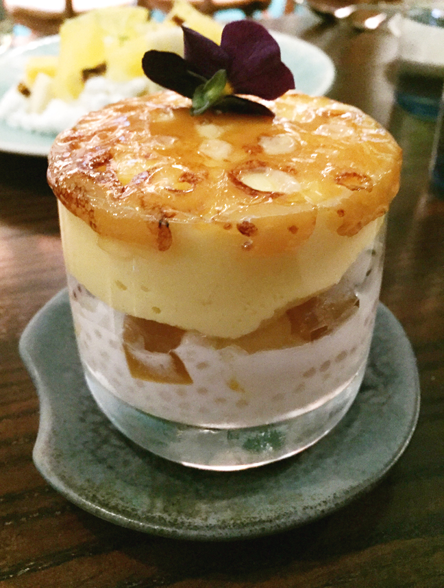 The much-Instagrammed Tropical Creamsicle Brulee.