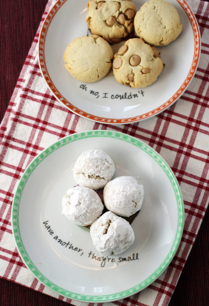 Yup, I made these three different cookies from one recipe that really requires only four ingredients.