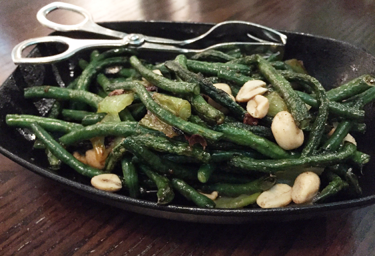 Long beans with peanuts.