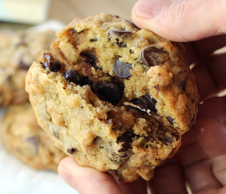 Loaded to the max with chocolate chips.