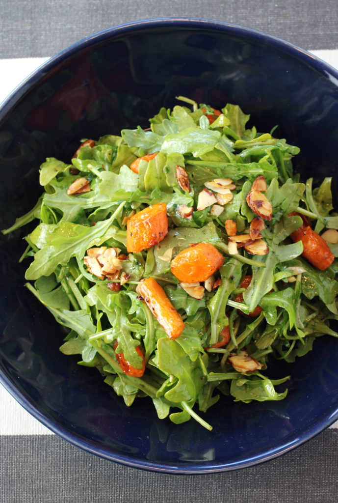 Enjoy the carrot salad as is -- or add the salmon or grilled chicken or grilled shrimp.