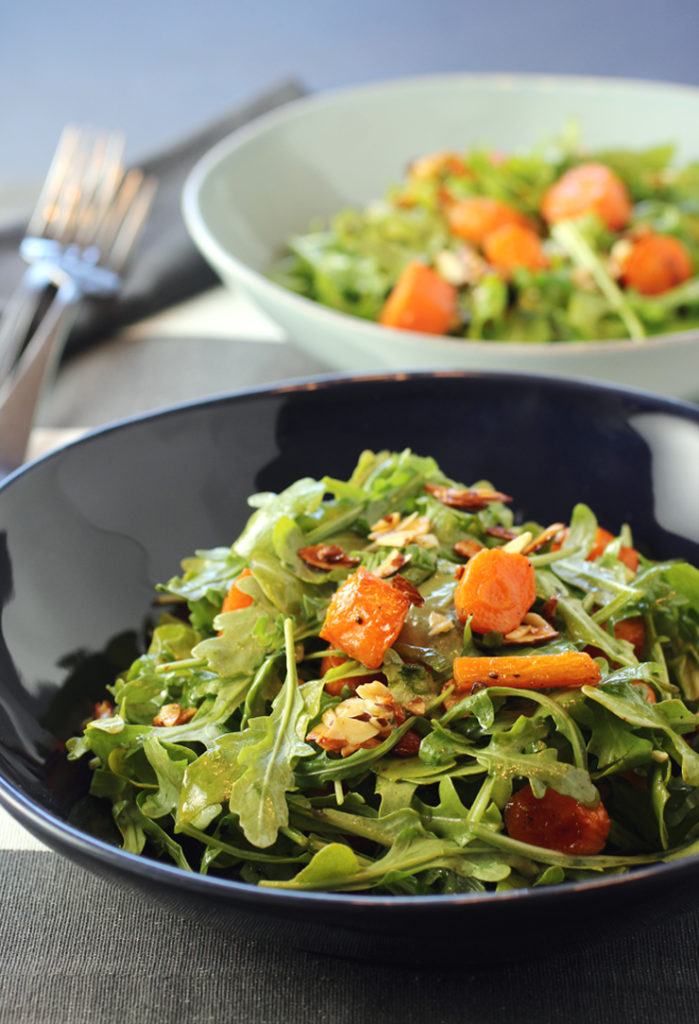 Melissa Clark's easy and delicious honey-roasted carrot salad with toasted almonds.