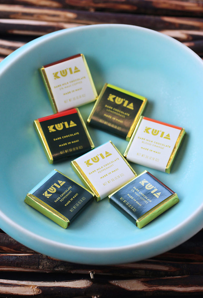Little squares of Maui Ku'ai Estate chocolate -- with a big story.