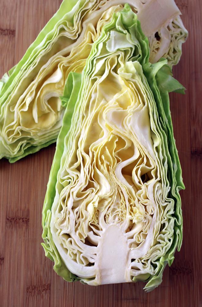 A gorgeous arrowhead cabbage.