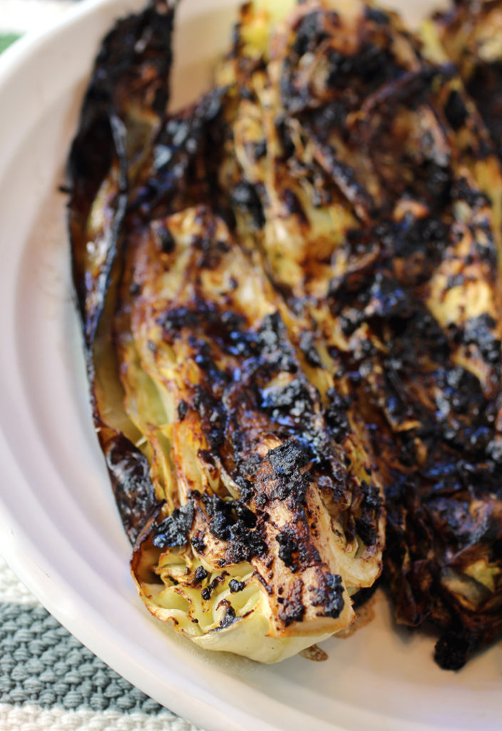 Don't let the blackened appearance keep you from trying this incredible charred cabbage dish.