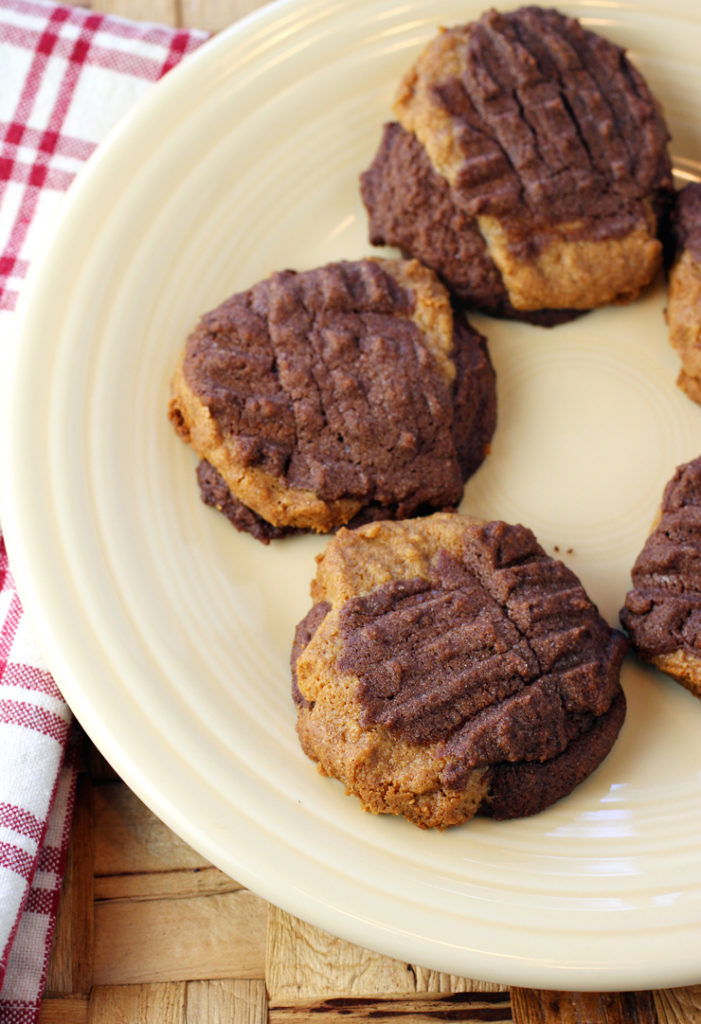 Made with a chocolate dough and a peanut butter dough, no two look quite exactly alike.