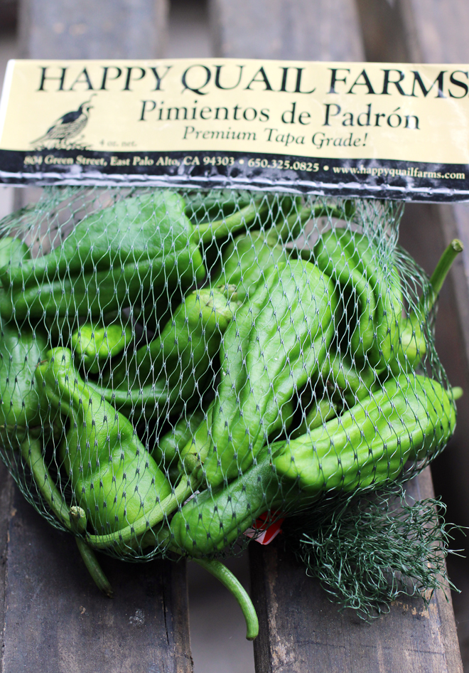 Happy Quail Farms' famed Padron peppers.