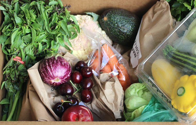 A peek inside last weekend's delivered Farm Box.