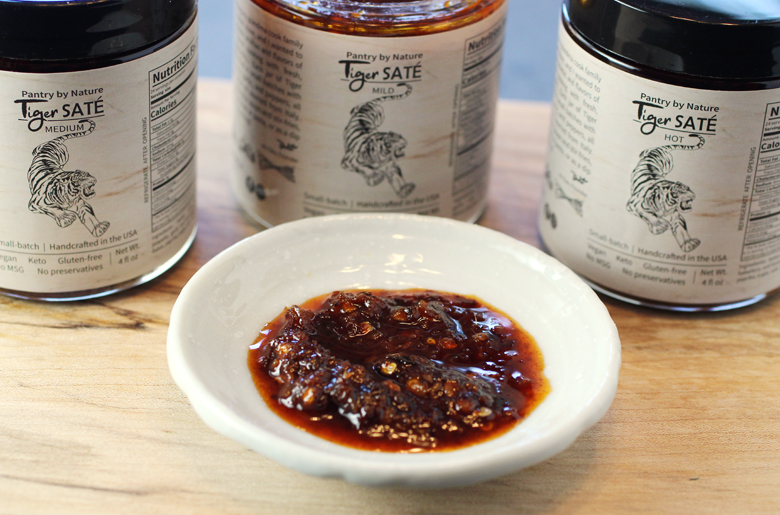 This Vietnamese chili sauce comes in mild, medium, and hot varieties.