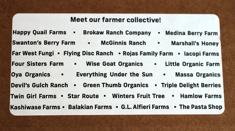 Farm Box works with these farms and producers.