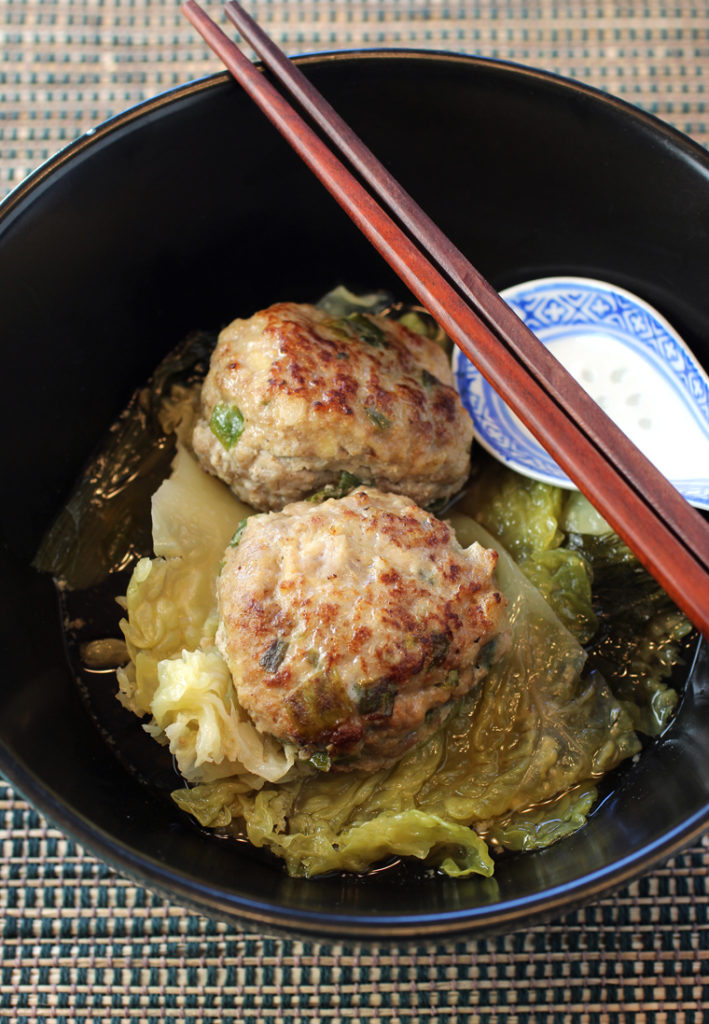 As comforting as it gets -- juicy pork meatballs in gingery, garlicky broth.