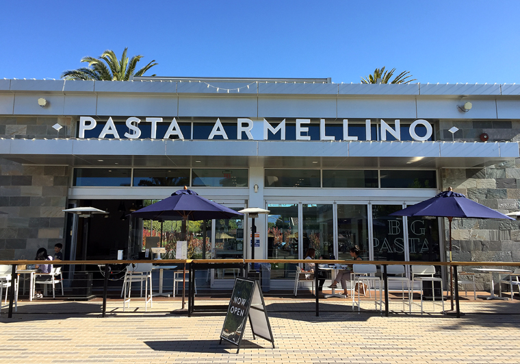 The new Pasta Armellino in the Main Street Cupertino complex.