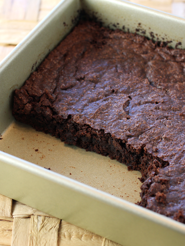 This brownie mix also makes use of vanilla bean pods leftover from making vanilla extract.