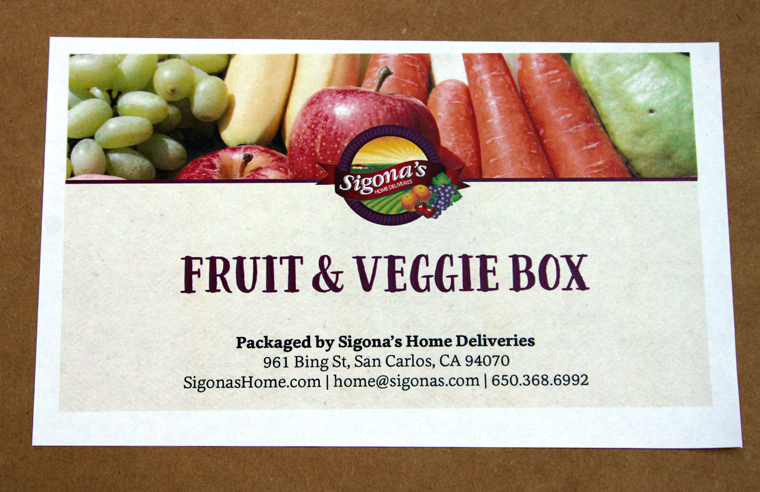 Test driving the new Sigona Home Delivery Fruit & Veggie Box.