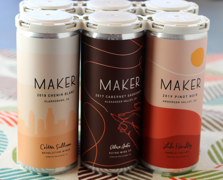 Each can has a distinctive look that reflects what's inside.