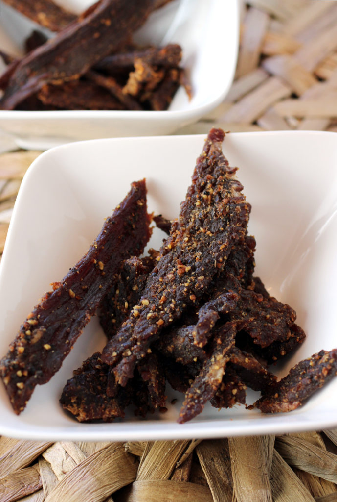 People's Choice Cowboy Peppered beef jerky.