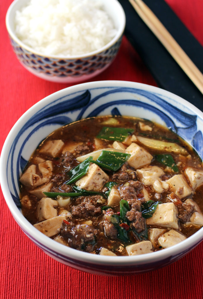 Better than takeout: Ma po tofu, made with ground lamb instead.