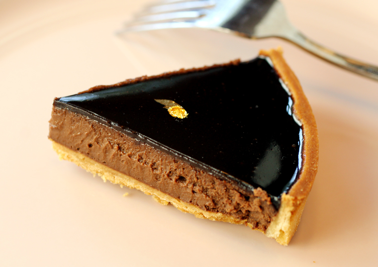 Rich and chocolatey throughout, a small slice is all you need to thoroughly satisfy your chocolate cravings.