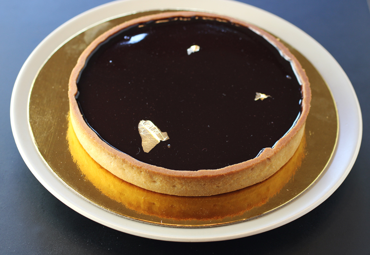 An elegant chocolate tart from Mademoiselle Colette.