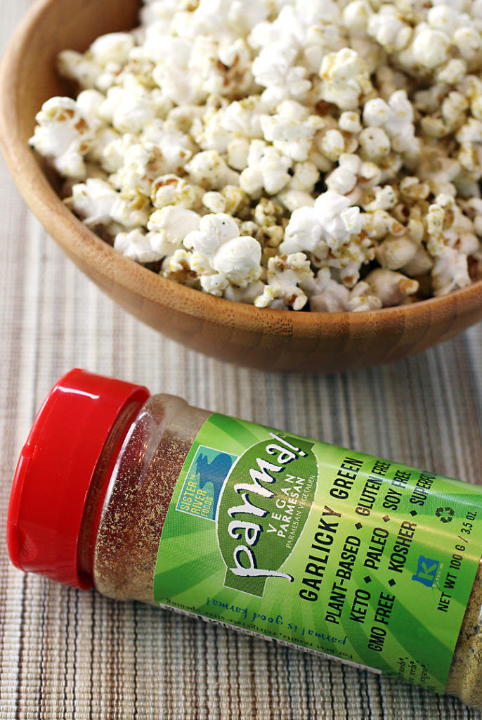 A blend of nutritional yeast, seeds and nuts, Parma! is a vegan alternative to Parmesan cheese.
