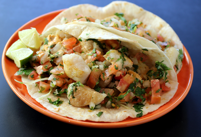 I can't say enough about these fish tacos at Sancho's.