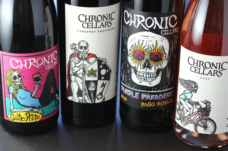 With these zany labels, Chronic Cellars is just the sip for this time of year.