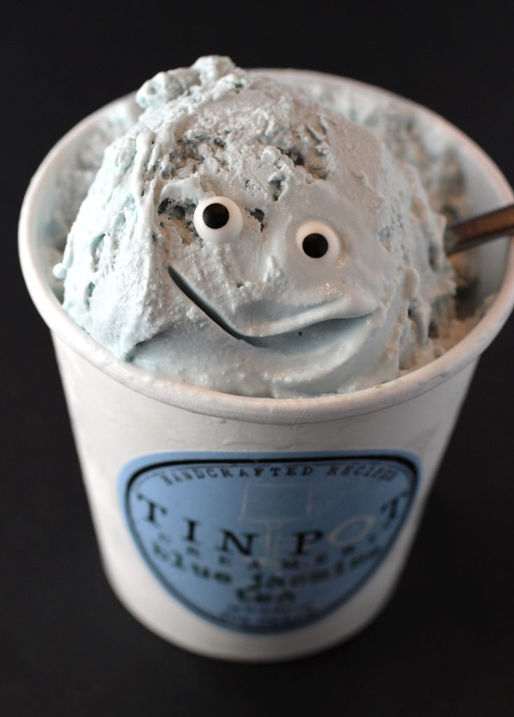 Say hello to my little friend: Blue Jasmine Tea ice cream from Tin Pot Creamery.