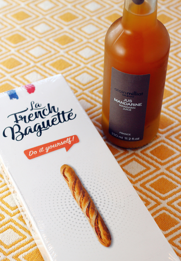 A cute baguette-making kit, and French juices are among other items available at the Frenchery.