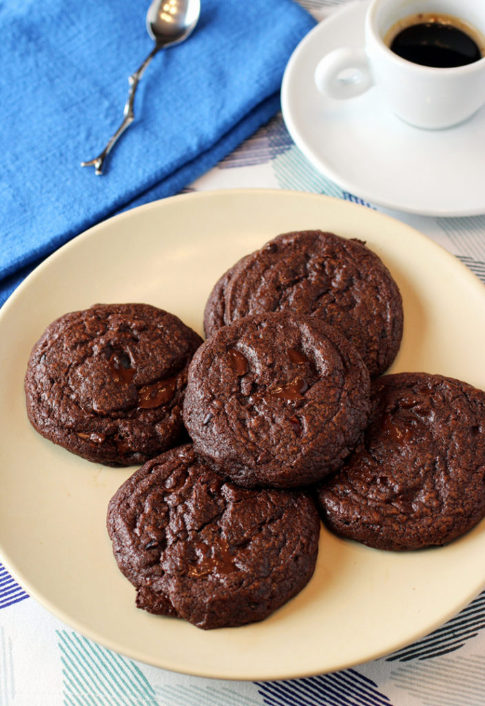 A load of chocolate plus a little espresso combine to take these cookies over the top.