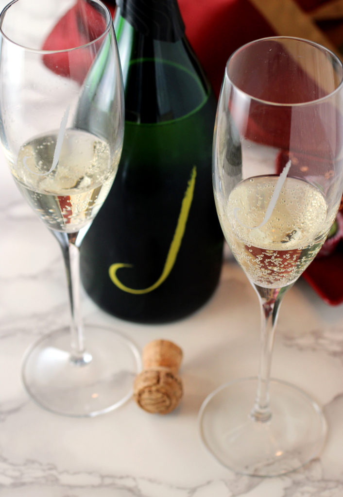 A longed-for toast to the end of 2020 with an always reliable J Vineards Cuvee.
