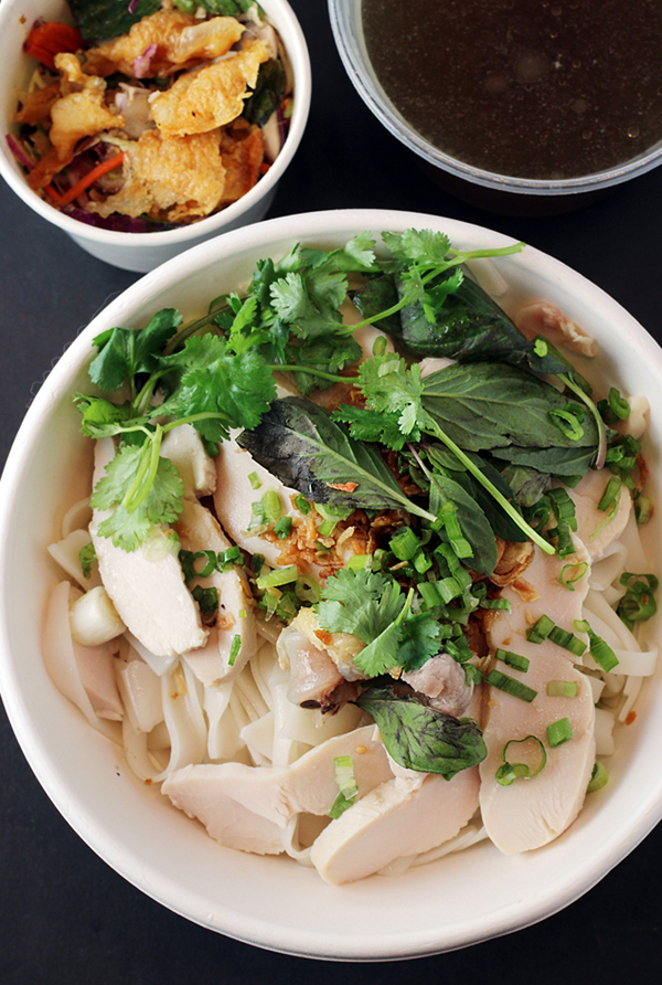 The most incredible chicken pho you'll ever have. At Lily in San Francisco.