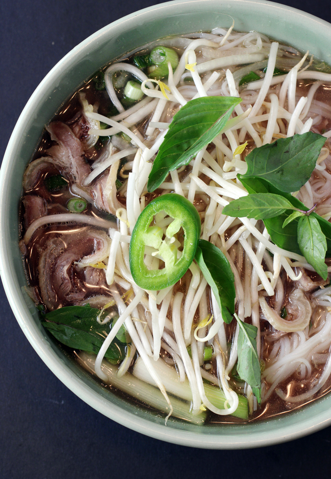 Pho with beef two ways.