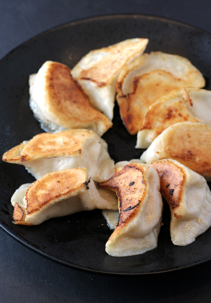 The pork pot stickers I cooked at home.