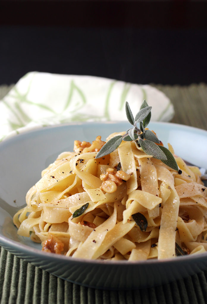 An easy pasta made luxurious with a copious amount of browned butter.