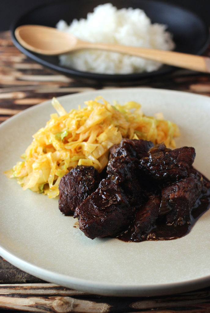 Lamb braised with tamarind -- a taste of South Africa.