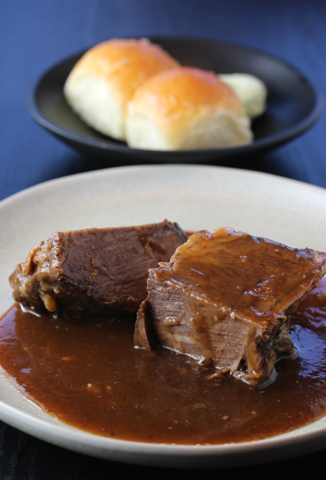 A sizeable serving of short ribs.