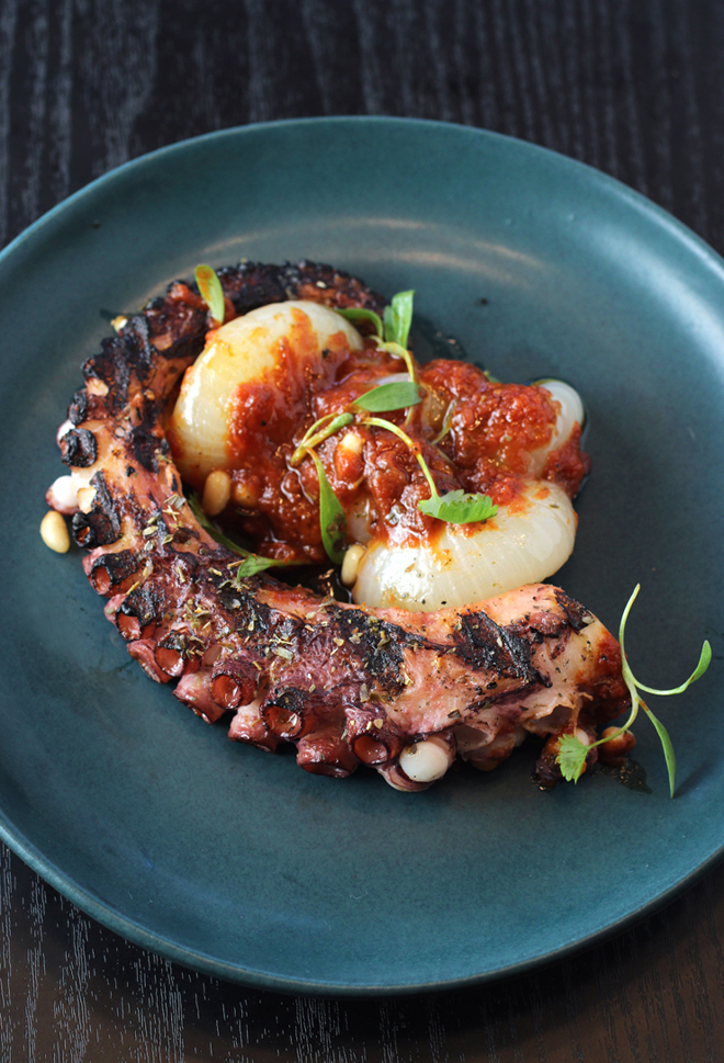 Grilled Spanish octopus.