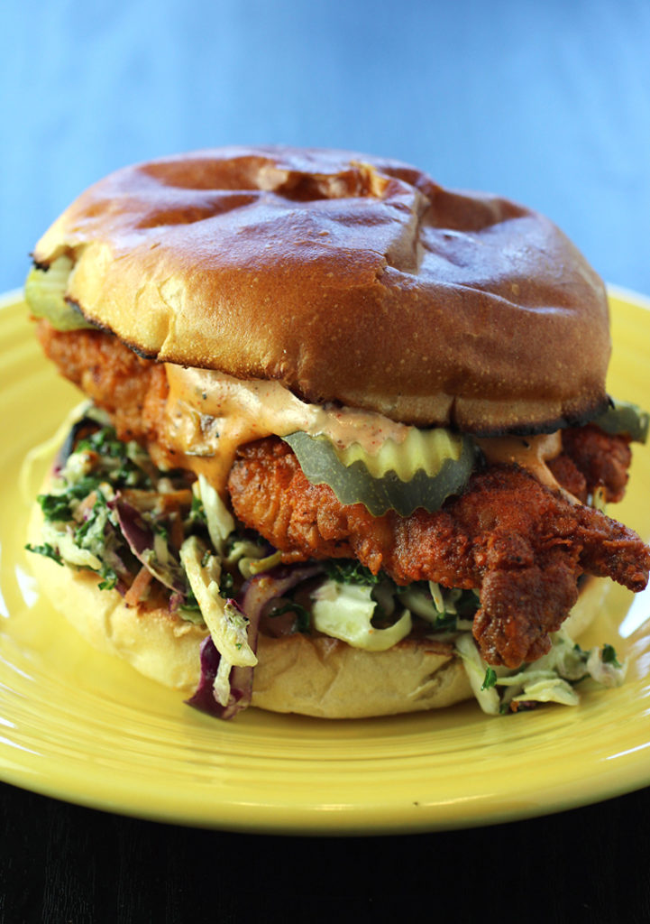 The Crispy Chicken Sandwich from Winner Winner Chicken.