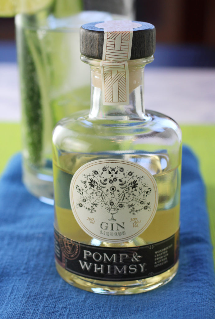 Not simply gin, but a gin liqueur.