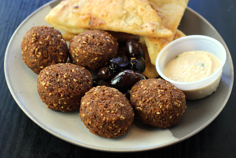 The falafel appetizer.