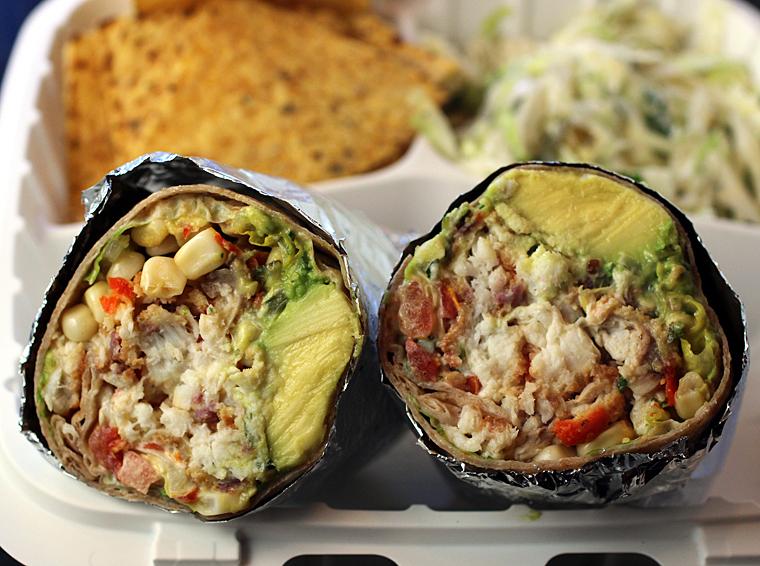 Baja fish burrito.